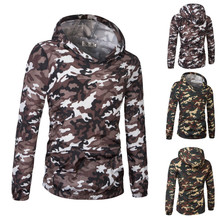 Cotton Men Sweatshirts printed camouflage Sold By PC
