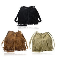 PU Leather Miracle Tassel Crossbody Bag with Zinc Alloy & Polyester Solid Sold By PC