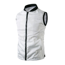 Cotton Men Vest breathable plain dyed Solid Sold By PC