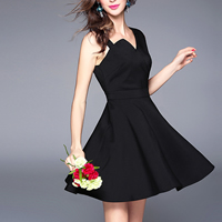 Polyester & Cotton Short Evening Dress backless off shoulder & tube plain dyed Solid black Sold By PC