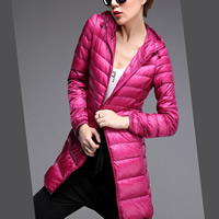 Polyester Plus Size Women Down Coat mid-long style patchwork Solid Sold By PC