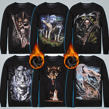 Cotton Men Sweatshirts more thicker and more wool with Polyester printed different pattern for choice black Sold By PC