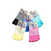 Cotton Children Five Toes Socks & antibacterial & deodorant & sweat absorption jacquard Cartoon Sold By Lot