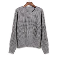 Acrílico Suéter Mujer, de punto, Sólido, más colores para elegir, :,  ordenador personal