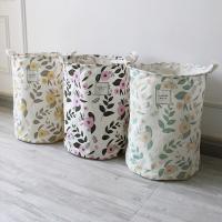 Cotton Fabric Storage Basket Sold By Set