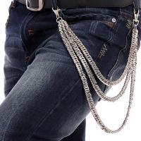Aleación de zinc Cadena de cintura, Otros, Fragmentado plateado,  Hebra
