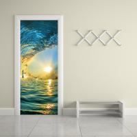 PVC Modern Style Door Stickers for Bedroom & waterproof Set