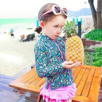 Polyamid & Polyester Mädchen Kinder dreiteiligen Badeanzug, Patchwork, Andere, rose und blau,  Stück