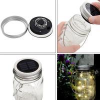 Vaso Lámpara Mason Jar, Sólido, más colores para elegir,  trozo