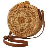 Straw Handmade & Vintage & Weave Crossbody Bag One Shoulder Solid PC