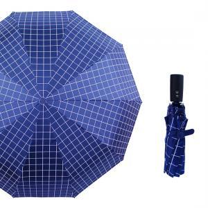 FRP Rod Pongee Rubber automatic foldable Sun-Rain Umbrella