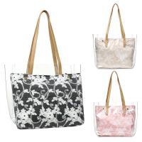 PVC & PU Leather Bucket Bag Shoulder Bag large capacity & soft surface & transparent Others PC
