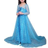 Gauze & Cotton Children Princess Costume & for girl patchwork blue PC