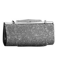 PU Leather & Rhinestone Bridal Purse & Evening Party Clutch Bag Brass Solid PC