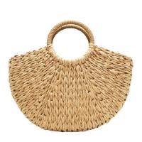 Straw Handmade & Weave Handbag soft surface Solid PC