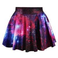 Spandex & Polyester Rock, Gedruckt, Sternenhimmel-Muster, mehr Farben zur Auswahl, :,  Stück