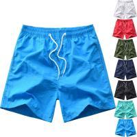 Polyester Männer Strandshorts, schlicht gefärbt, Solide, mehr Farben zur Auswahl,  Stück
