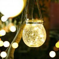 Hanfseil & Glas & Edelstahl Courtyard Light, mehr Farben zur Auswahl,  Stück