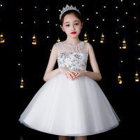 Polyester Mädchen einteiliges Kleid, Weiß,  Stück